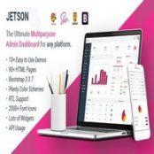 قالب Jetson – کیت رابط کاربری و قالب مدیریتی Bootstrap چندمنظوره