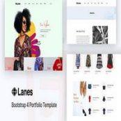 قالب اچ تی ام ال Lanes – eCommerce Bootstrap 4 Template