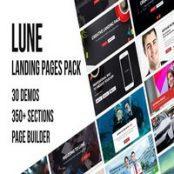 قالب HTML5 صفحه فرود LUNE