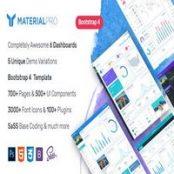 قالب HTML مدیریتی MaterialPro