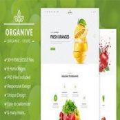 قالب Organive – قالب HTML فروش مواد غذایی و محصولات ارگانیک