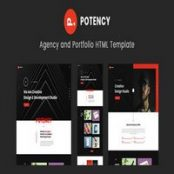 دانلود Potency – Creative Agency And Portfolio HTML5 Template