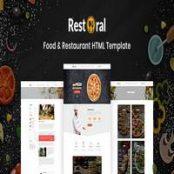 قالب Restoral – قالب HTML رستوران و فست فود