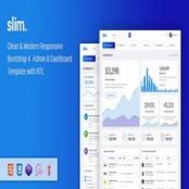 قالب Slim – قالب اچ تی ام ال مدیریتی بوت استرپ ۴