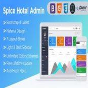 قالب Spice Hotel – قالب HTML داشبورد مدیریت + کیت UI