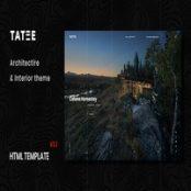 قالب HTML5 معماری و ساختمانی Tatee