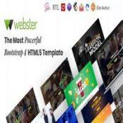 قالب HTML5 چندمنظوره Webster