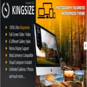 قالب عکاسی تمام صفحه KingSize برای وردپرس