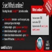 افزونه ۵sec Who's Online برای وردپرس