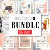 پک براش پروکریت All Procreate Stamp Brushes Bundle