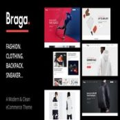 قالب فروشگاهی Braga سازگار با ووکامرس