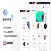 قالب فروشگاهی Ecome راست چین شده برای وردپرس