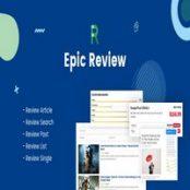 افزونه Epic Review برای وردپرس