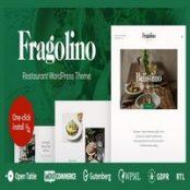 قالب رستوران وردپرس Fragolino