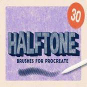 براش پروکریت HALFTONE BRUSHES FOR PROCREATE