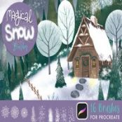 براش پروکریت Magical Snow Procreate Brushes