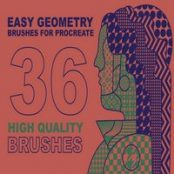 براش پروکریت Procreate Easy Geometry brushes