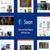 قالب Saxon برای وردپرس