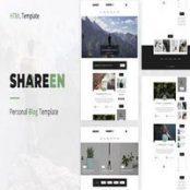 قالب سایت شخصی Shareen