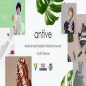 قالب Antive – قالب فروشگاهی مینیمال وردپرس راست چین
