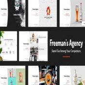 قالب نمونه کار وردپرس Freeman