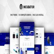 قالب شرکتی و استارت آپ وردپرس Incubator