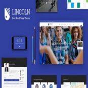 قالب Lincoln – قالب آموزشی متریال دیزاین وردپرس