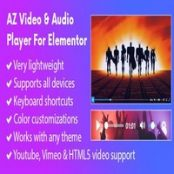 افزونه AZ Video and Audio Player برای المنتور