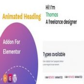 افزونه Animated heading addon برای المنتور
