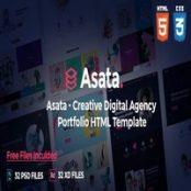 قالب HTML نمونه کار شرکتی Asata