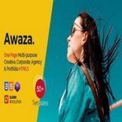 قالب اچ تی ام ال تک صفحه Awaza