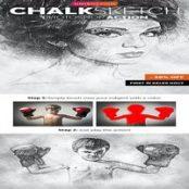 اکشن فتوشاپ Chalk Sketch