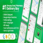 دانلود Delivery Boy for Groceries, Foods, Pharmacies, Stores Flutter App