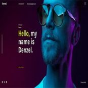 قالب HTML تک صفحه Denzel