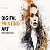 اکشن فتوشاپ نقاشی دیجیتال