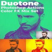 دانلود Duotone Photoshop Actions Color FX Mix Set
