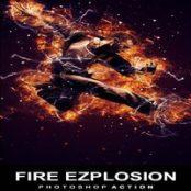 اکشن فتوشاپ Fire Explosion