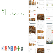 اپلیکیشن Food, Grocery, Meat Delivery Mobile App with Admin Panel