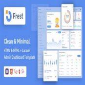 قالب لاراول و HTML مدیریتی Frest