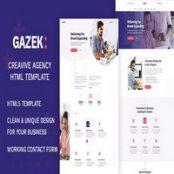 قالب HTML نمونه کار Gazek