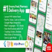 اپلیکیشن Grocery Food Pharmacy Store Delivery Mobile App