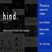 قالب HTML نمونه کار Hind