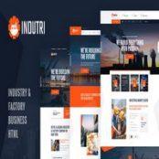 قالب HTML صنعتی Indutri