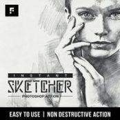 اکشن فتوشاپ Instant Sketcher