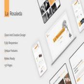 قالب HTML خلاقانه La Rosaleda