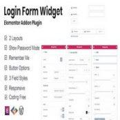 افزونه Login Form Widget برای المنتور