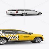 موکاپ ماشین شاسی بلند Luxury SUV