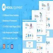 قالب HTML پزشکی Medical Equipment