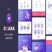 قالب HTML سئو و دیجیتال مارکتینگ Oxana
