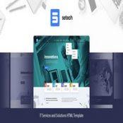 قالب HTML خدمات فناوری اطلاعات Setech